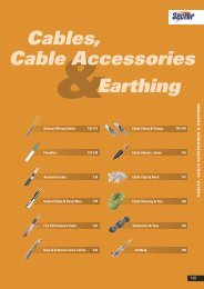 Cables, Cable Accessories & Earthing - WF Senate