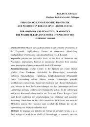 Phraseologie und Semantik, Pragmatik - Universität Tübingen