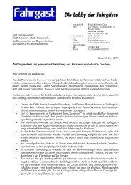 Stellungnahme zur geplanten Einstellung des Personenverkehrs im ...