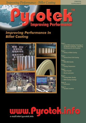 Improving Performance - Billet Casting Improving ... - Pyrotek