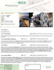 HEE Classic China Tour - HEE Travel & Tours