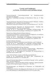 Vorträge und Fortbildungen zur Neuropsychologie - Institut für ...