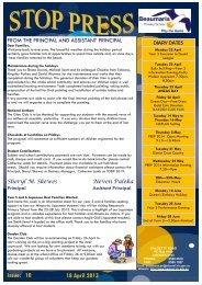 Issue: 10 18 April 2013 - Beaumaris Primary School