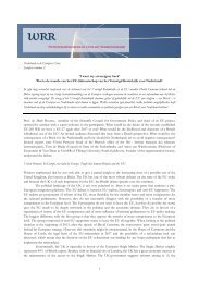 1 Nederland en de Europese Unies Synopsis seminar 2 'I want my ...