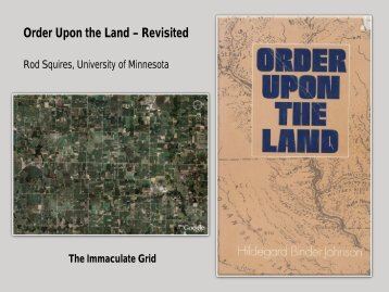 Order Upon the Land – Revisited - University of Minnesota