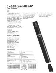 AKG C460B / CK61-ULS Ultra-Linear small ... - AllegroSound