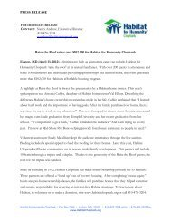 PRESS RELEASE Raise the Roof raises over $102,000 for Habitat ...