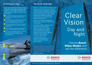 Choose Bosch Wiper Blades and see the difference - Bosch New ...