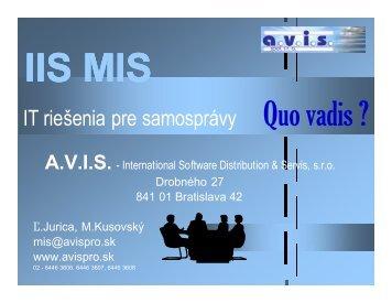 IIS MIS - ZISS