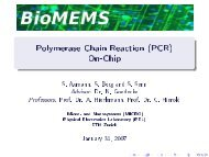 Polymerase Chain Reaction (PCR) On-Chip - Presentation