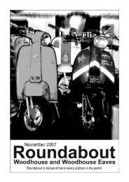 Roundabout Nov 07 - Woodhouse Parish Council