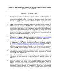 1 Politique de l'ACEI en matière de règlement des différends ... - CIRA