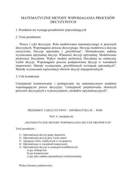 Ameljańczyk, prof. dr hab.