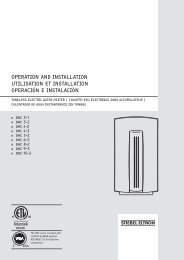 DHC Tankless Electric Water Heater Installation ... - Stiebel Eltron