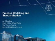 Process Modelling and Standardization - Erpanet