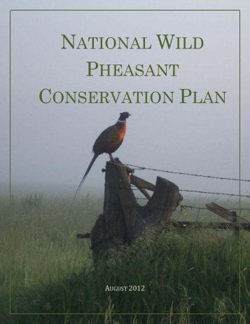National Wild Pheasant Conservation Plan - Association of Fish and ...