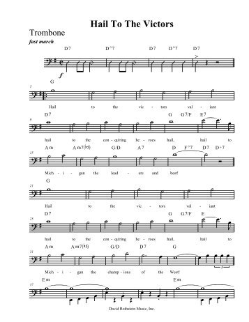 Download Sheet Music - David Rothstein Music