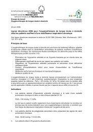Lignes directrices 2006 pour l'oxygénothérapie de longue durée à ...
