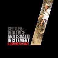 Settlers Violence and Israeli Incitement Book. - Palestine Liberation ...
