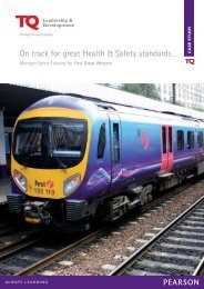 Manager Safety Training for First Great Western - TQ Education and ...