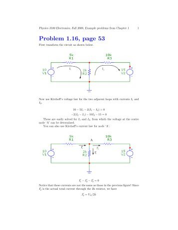 Problems from Chapter 1