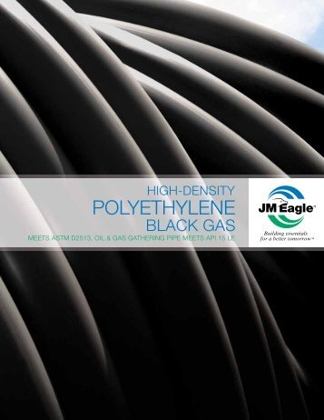 Polyethylene Black Gas Brochure - JM Eagle