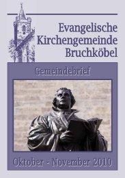 Gemeindebrief Oktober - November 2010 - Evangelische Kirche ...