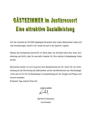 Seit der erstmals am 1.01.1994 aufgelegten Broschüre ... - ZA Justiz
