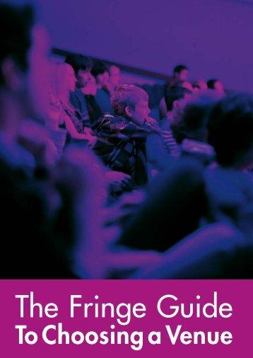 Fringe Guide to Choosing a Venue - Edinburgh Festival Fringe