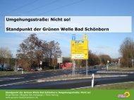 Umgehungsstraße: Nicht so! - Grüne Bad Schönborn