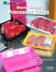 Heavy Weight Processor Trays For Supermarkets ... - Genpak