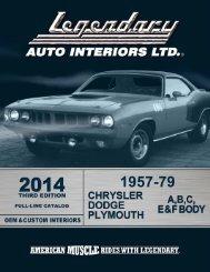 installation services - Legendary Auto Interiors, Ltd.