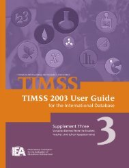 TIMSS 2003 User Guide Supplement 3.pdf - TIMSS and PIRLS Home