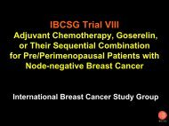Trial VIII First Results - IBCSG