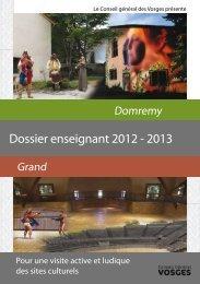 Dossier enseignant 2012 - 2013 - Vosges