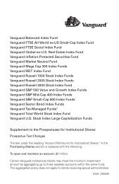 Vanguard Inflation-Protected Securities Fund Prospectus Institutional