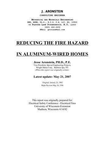 Aluminum Wiring - Prospex.us  sc 1 st  Yumpu : aluminum wiring safety - yogabreezes.com