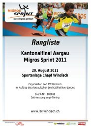 Kantonalfinal Aargau Migros Sprint 2011 - Swiss Athletics Sprint