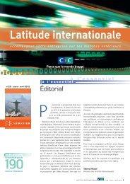 Latitude Internationale n°29 - CIC