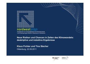 deskriptive und induktive Ergebnisse Klaus Fichter ... - NordWest2050