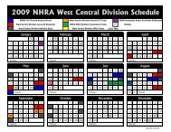 2009 Event Schedule Revised 02-03.pdf - NHRA.com