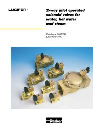 2-way pilot operated solenoid valves for water, hot ... - Normapress