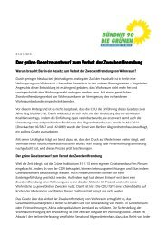 Infoblatt: Der Grüne Gesetzentwurf zur Zweckentfremdung