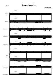 Lo quÈ vendra - Daily Piano Sheets