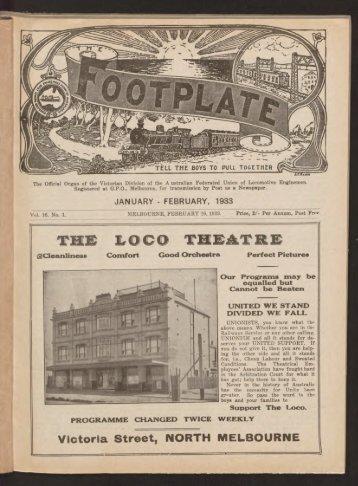 The Footplate: vol. 16, no. 1 (January-February, 1933)