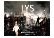 LYS - kynst, byrum, vækst, arbejdspladser - Lysnet