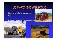 Le macchine agricole - Sistema delle autonomie locali