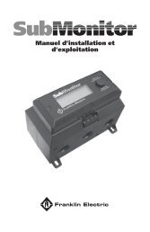 Manuel d'installation et d'exploitation - Franklin Electric Europa