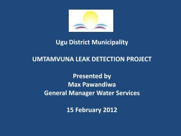 Umtamvuna Leak Detection Programme Case Study v1 1 - MILE