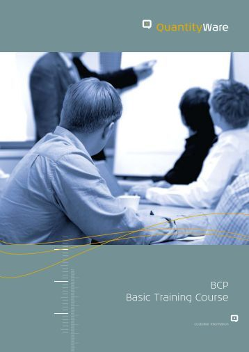 BCP Basic Training Course - QuantityWare